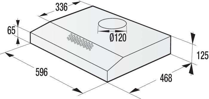 Hota bucatarie Gorenje WHU629ES/S, Clasa energetica B, Gama Essential, Silver 3