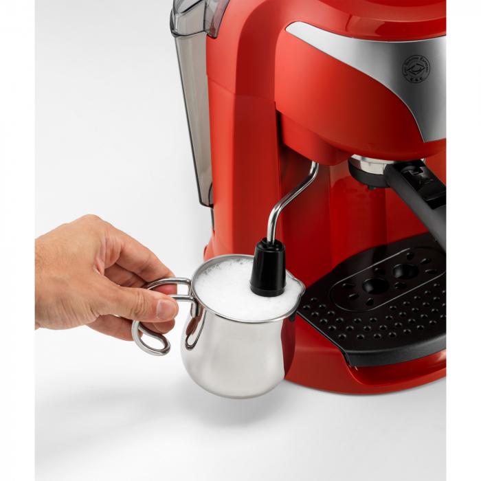 Espressor cu pompa DeLonghi EC221.Red, Dispozitiv spumare, Sistem cappuccino, 15 Bar, 1 l, Oprire automata [2]
