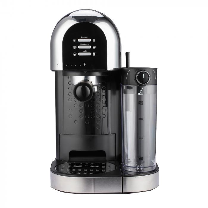 Espressor manual Heinner Coffee Dreamer HEM-DL1470BK, 1230-1470W, 20bar, , dispozitiv spumare lapte, rezervor detasabil lapte 500ml, rezervor apa 1.7L, 6 tipuri de bauturi, Negru 0
