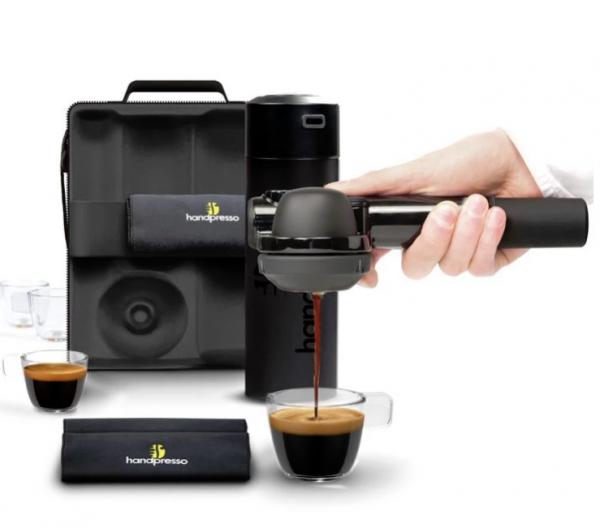 Espressor manual portabil Pump Set Handpresso, 16 bar presiune, 50 ml capacitate rezervor apa