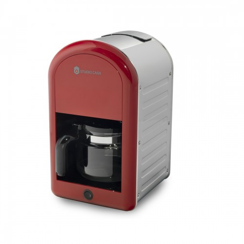 Filtru de cafea Retro 70 Studio Casa , 1.25 l, 1000 W, Rosu / Inox [0]