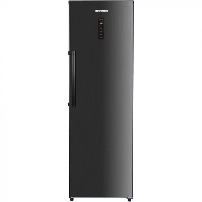 Frigider cu o usa Heinner HF-H355NFDX++, 355 l, NoFrost, Display, Control electronic, Clasa A++, H 185 cm, Inox negru 0