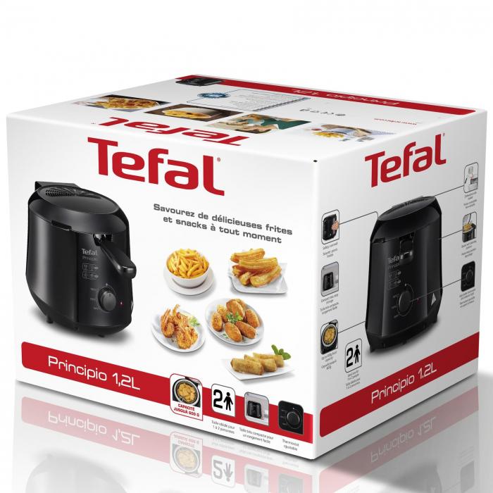 Friteuza Tefal Minicompact FF230831 Principio, 1000W, 0.6 Kg, 1.2L, termostat reglabil, Negru 1