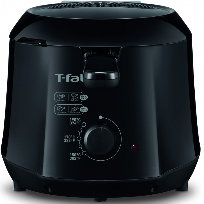 Friteuza Tefal Minicompact FF230831 Principio, 1000W, 0.6 Kg, 1.2L, termostat reglabil, Negru 2