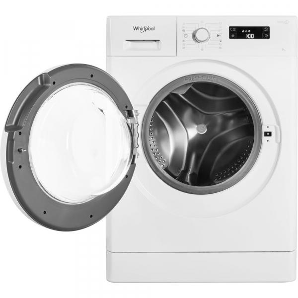 Masina de spalat Whirlpool FWSG 71253 W, 7 kg, 1200 rpm, FreshCare+, SoftMove, Colours15,Clean+, Al 6-lea Simt, Alb 4