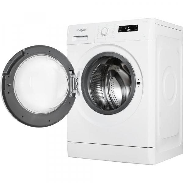Masina de spalat Whirlpool FWSG 71253 W, 7 kg, 1200 rpm, FreshCare+, SoftMove, Colours15,Clean+, Al 6-lea Simt, Alb 5