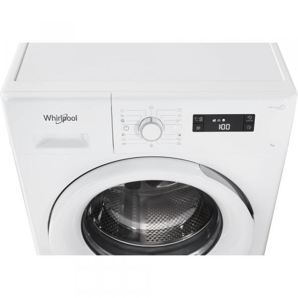 Masina de spalat Whirlpool FWSG 71253 W, 7 kg, 1200 rpm, FreshCare+, SoftMove, Colours15,Clean+, Al 6-lea Simt, Alb 6
