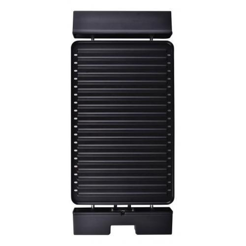 Gratar electric Heinner HEG-F1800, 1800 W, placa detasabila cu invelis anti-adeziv, placa 41 x 26 cm, Negru/Inox 1