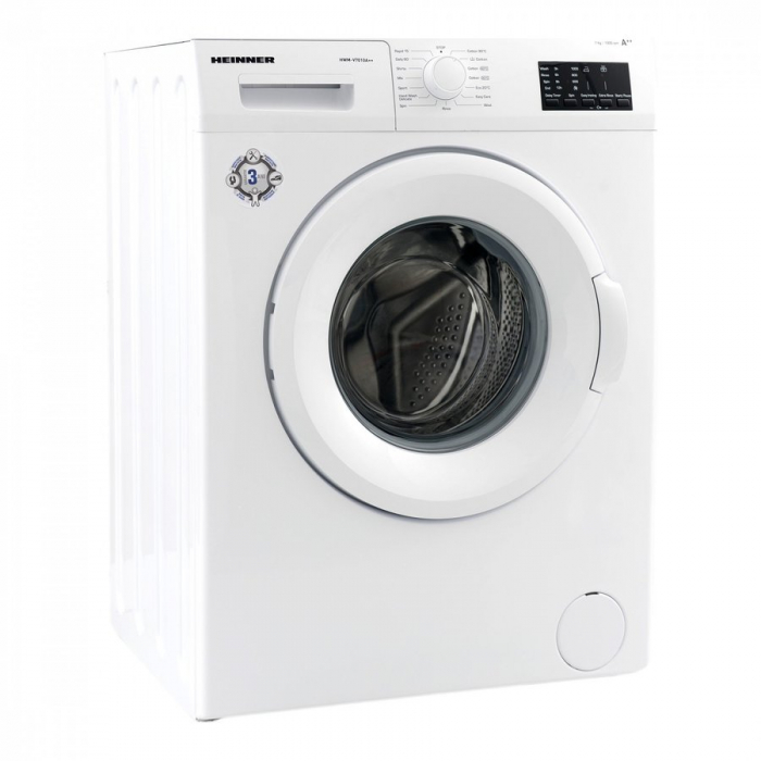 Masina de spalat rufe Heinner HWM-V7010A++, 7KG, 1000 RPM, Clasa A++, Ecran LED, Functie start intarziat, Sistem Eco Logic, 60 cm, Alb [2]