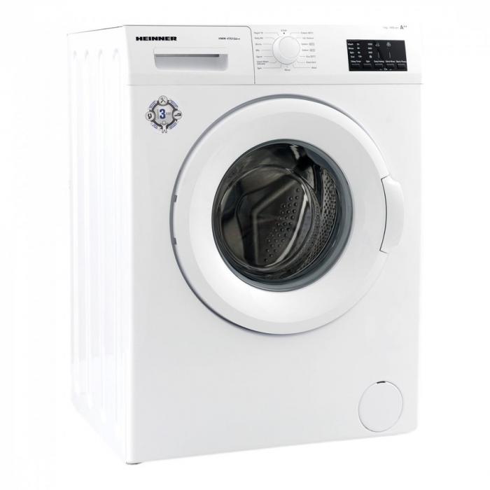 Masina de spalat rufe Heinner HWM-V7010A++, 7KG, 1000 RPM, Clasa A++, Ecran LED, Functie start intarziat, Sistem Eco Logic, 60 cm, Alb 2