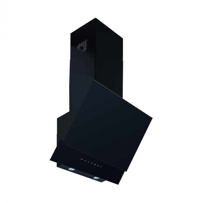 Hota decorativa Pyramis LIVELO, sticla neagra, touch control, absorbtie periferica, 60cm [0]