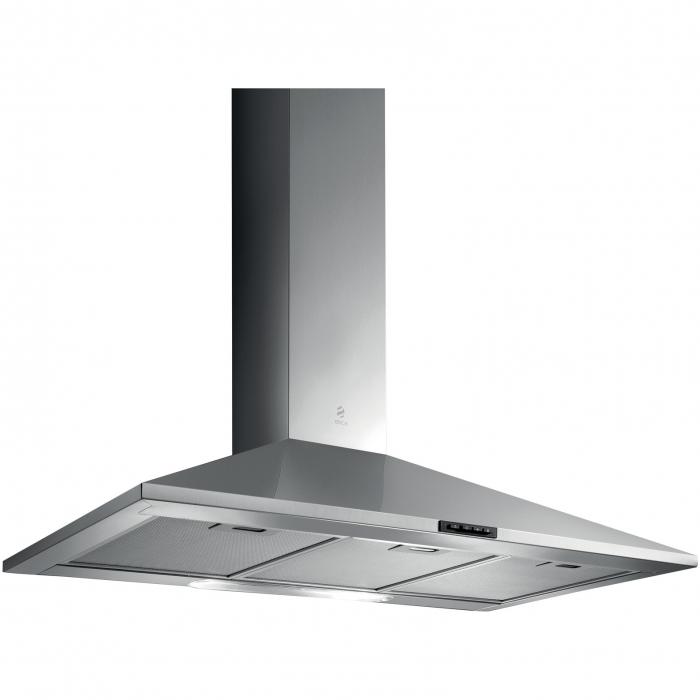 Hota incorporabila decorativa Elica MISSY PB IX/A/90, Putere de absorbtie 600 mc/h, Sistem cu filtru, Iluminare LED, Filtru de grasime, Clasa A, 90 cm, Inox [0]