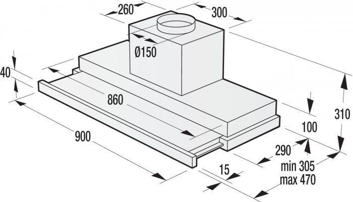 Hota incorporabila Gorenje BHP923E13X, 647 m³/h, Inox [2]