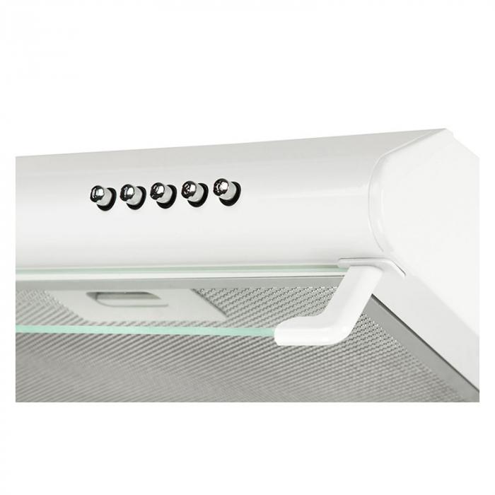 Hota traditionala Tornado Bona 10 (50) LED, 1 motor, latime 50 cm, absorbtie 380 m3/ora, filtru anti-grasimi aluminiu 5 straturi, Alb [3]