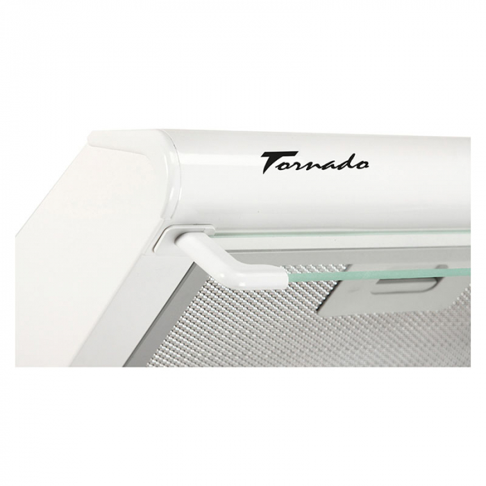 Hota traditionala Tornado Bona 10 (50) LED, 1 motor, latime 50 cm, absorbtie 380 m3/ora, filtru anti-grasimi aluminiu 5 straturi, Alb [2]