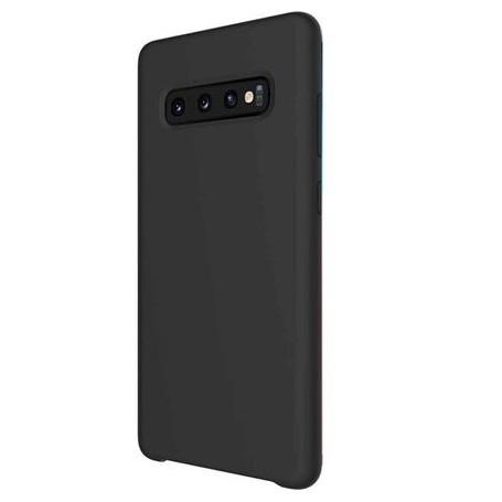 Husa de protectie Matt TPU pentru Samsung Galaxy S10, silicon moale, negru 0