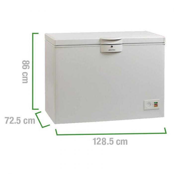 Lada frigorifica Arctic O40+, 360 l, Clasa A+, 2 cosuri, Yala, L 128.5 cm, Alb 2