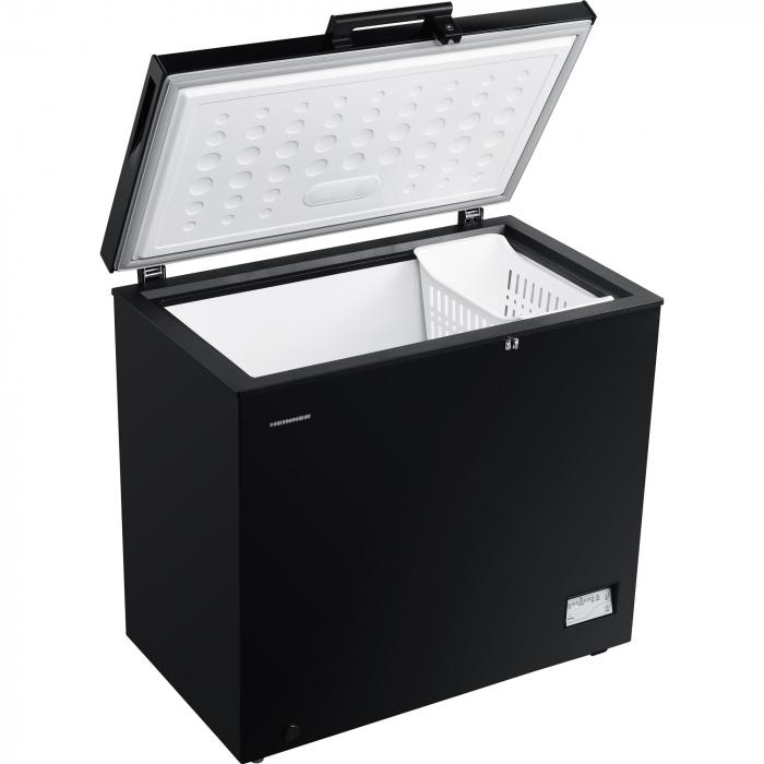 Lada frigorifica Heinner HCF-205NHBKF+, 200 l, Clasa A+, Control elecronic, Iluminare LED, Waterproof Display, Negru 4