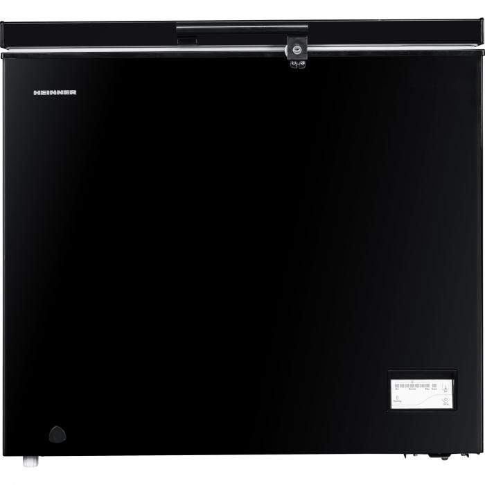 Lada frigorifica Heinner HCF-205NHBKF+, 200 l, Clasa A+, Control elecronic, Iluminare LED, Waterproof Display, Negru 0