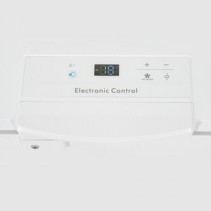 Lada frigorifica Heinner HCF-M250EE++, 250 l, Clasa A++, Display LED, Control elecronic, Congelare rapida, Alb [3]