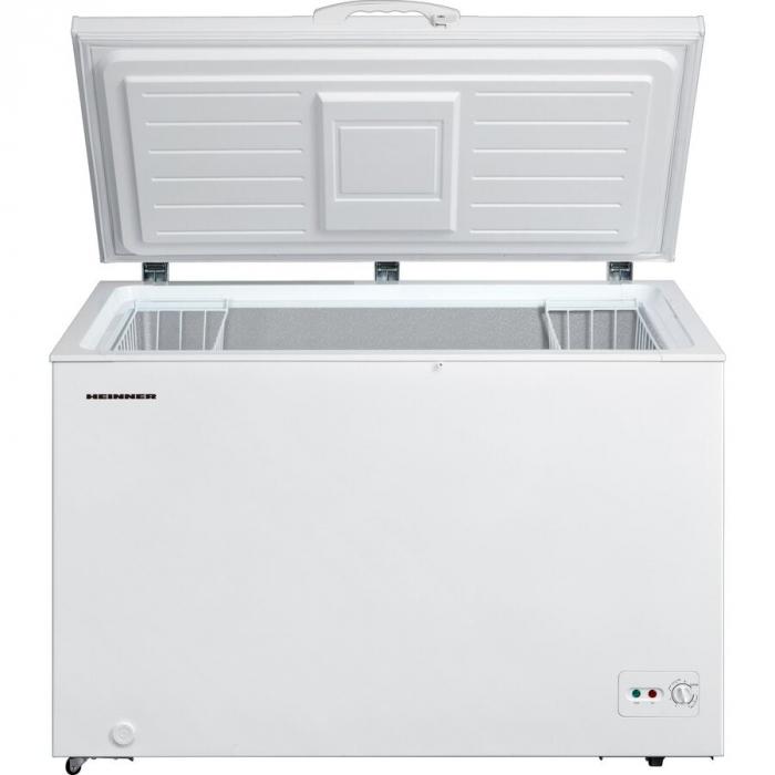 Lada frigorifica Heinner HCF-M362CA+, 359 l, Clasa A+, Sistem Convertibil Frigider/Congelator, Maner cu incuietoare, Alb 1