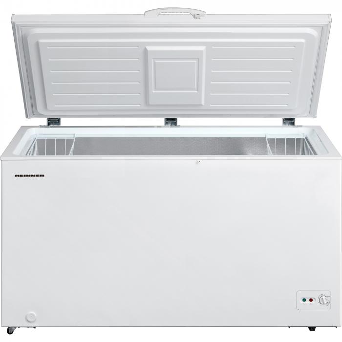 Lada frigorifica Heinner HCF-M418CA+, 418 l, Clasa A+, Sistem Convertibil Frigider/Congelator, Control mecanic, Winter Protection, Alb 1