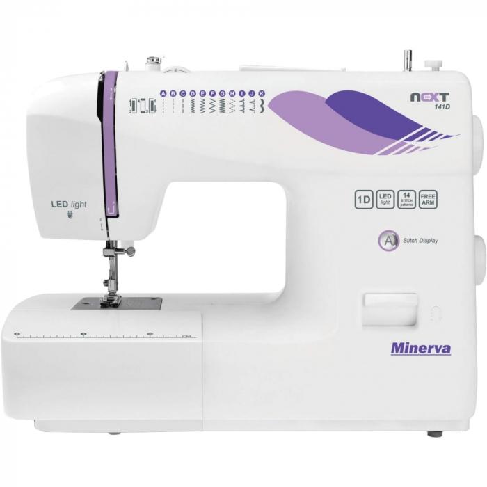 Masina de cusut Minerva Next141D, 14 programe, 850 imp/min, Alb 0
