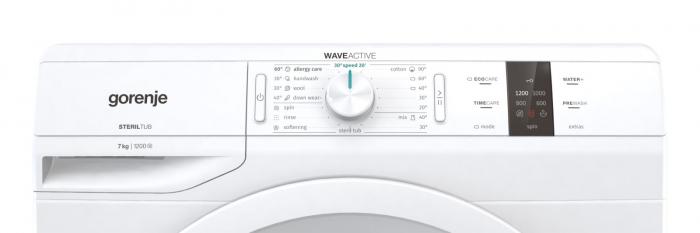 Masina de spalat GORENJE WP72S3, Clasa A+++, Capacitate 7kg, 1200rpm, Alb 2