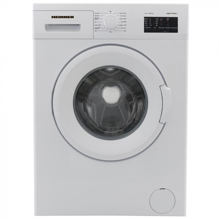 Masina de spalat Heinner HWM-V7010D++, 7 kg, 1000 RPM, Clasa A++, Display LED, 60 cm, Alb 0