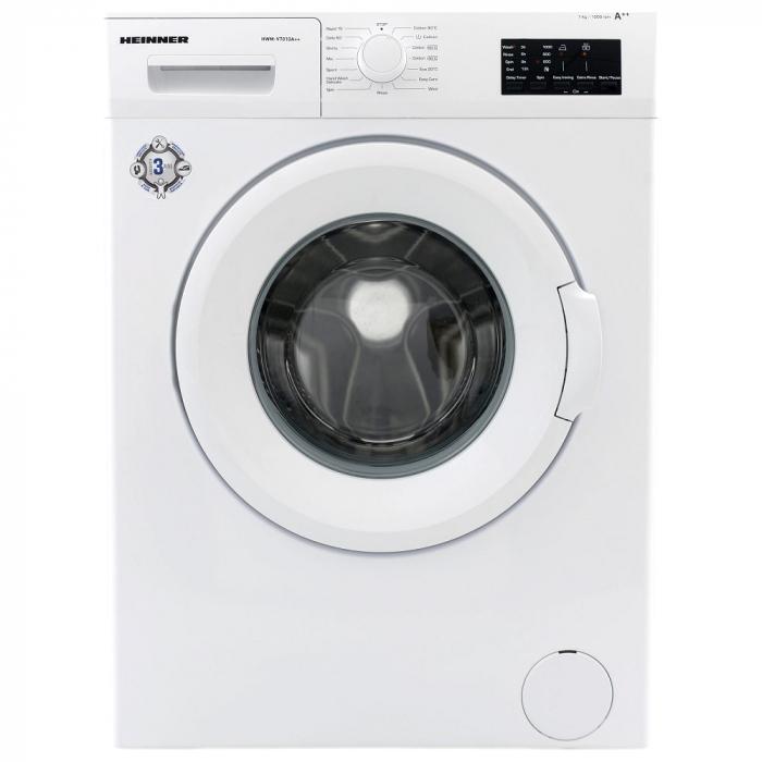 Masina de spalat Heinner HWM-V7014D++, 7 kg, 1000 RPM, Clasa D, Display LED, Alb 0