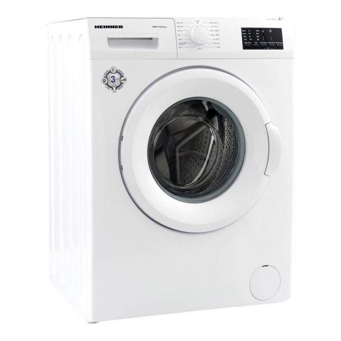 Masina de spalat Heinner HWM-V7014D++, 7 kg, 1000 RPM, Clasa D, Display LED, Alb 1