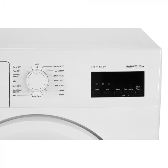 Masina de spalat Heinner HWM-V7012D++, 7 kg, 1200 RPM, Clasa D, Display LED, Alb 1