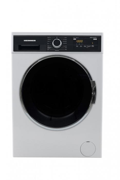 Masina de spalat Heinner HWM-V914TD+++, 9 kg, 1400 RPM, Clasa D, Display LED, Control Touch, Alb 0