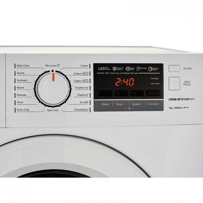 Masina de spalat rufe Heinner HWM-M7014A+++, 7 kg, 1400 RPM, Clasa A+++, Display LCD, Alb [4]