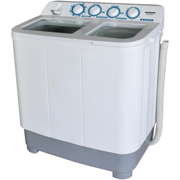 Masina de spalat rufe semiautomata Heinner HSWM-84WH, 8 kg, 4.6 kg, 2 cuve, Alb 0