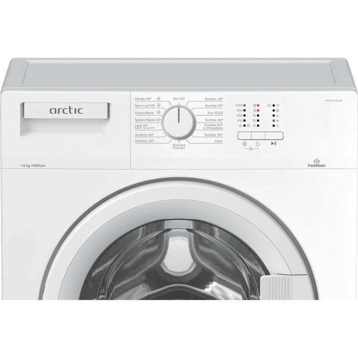 Masina de spalat rufe Slim Arctic APL61015XLW0 , 6 kg, 1000 RPM, Clasa A+++, ExtraSteam, Display LED, XL Door, Alb 2