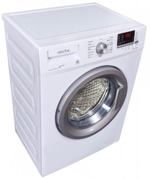 Masina de spalat rufe Slim Arctic APL81222XLW3, 8 kg, 1200 RPM, Clasa A+++, Display LED, Usa XL, Alb 1