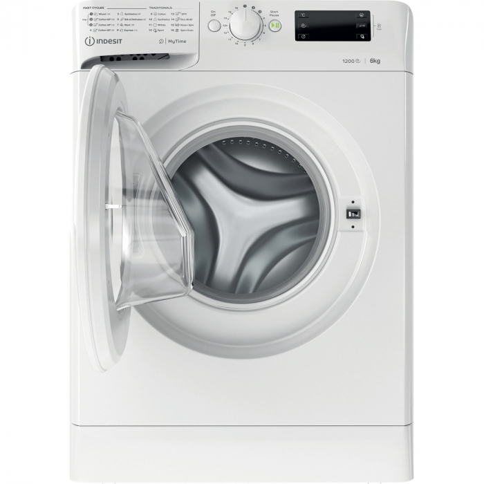 Masina de spalat rufe Slim Indesit MTWSE61252WEE, 6kg, 1200 RPM, Clasa A+++, MyTime, Fast Cycles, Alb [3]
