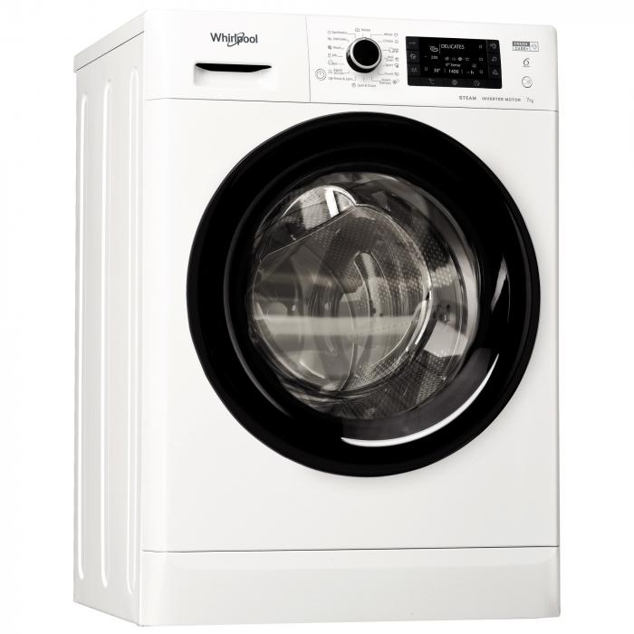 Masina de spalat rufe Slim Whirlpool FWSD71283BVEEN, 7 kg, 1200 RPM, Clasa A+++, Motor Inverter, 6th Sense, FreshCare+, Steam Refresh, Steam Hygiene, Alb [0]
