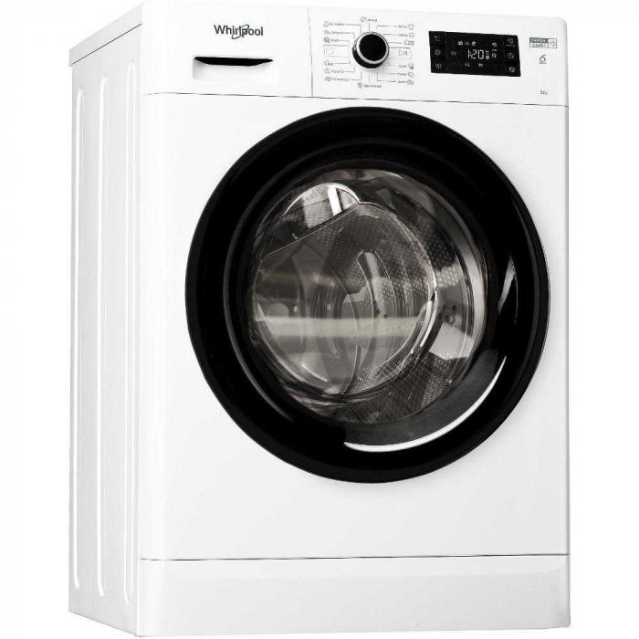 Masina de spalat rufe slim Whirlpool FWSG 61251 B EE N, 1200 RPM, 6 kg, Clasa A+++ [0]