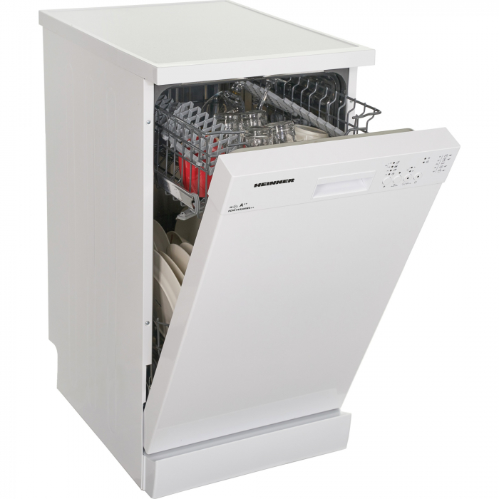 Masina de spalat vase Heinner HDW-FS4505WA++, 10 seturi, 5 programe, Clasa A++, Control electronic, 45 cm, Alb 4
