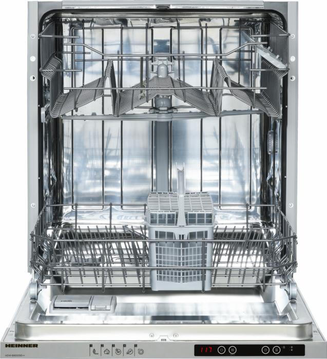 Masina de spalat vase incorporabila Heinner HDW-BI6005IE++, 12 Seturi, 5 programe, Clasa E, Half load, Aquastop, 60 cm [5]