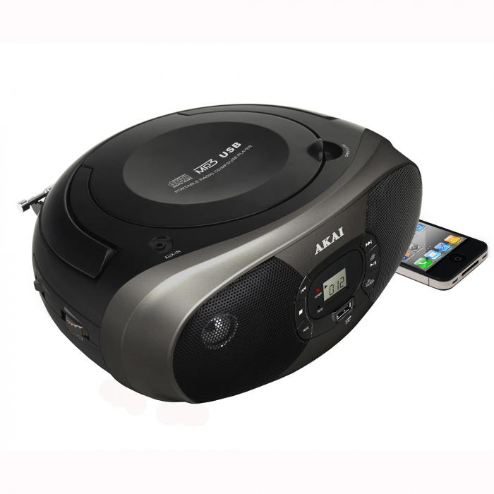 Microsistem audio AKAI BM004A-614, CD-Player, Radio, USB, 2x1W 0