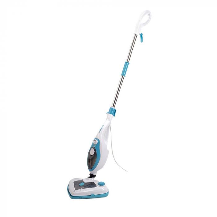 Mop cu aburi Daewoo DMO160, 1500 W, 0.4 L, recipient detergent, accesorii incluse, Alb 0