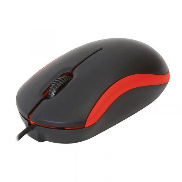 Mouse cu fir Omega OM07VR, Negru cu Rosu