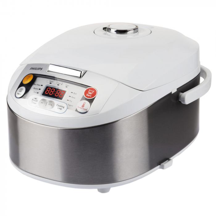 Multicooker Philips HD3037/70, 980 W, 5 L, Programe automate, Timer, Alb/Argintiu [1]