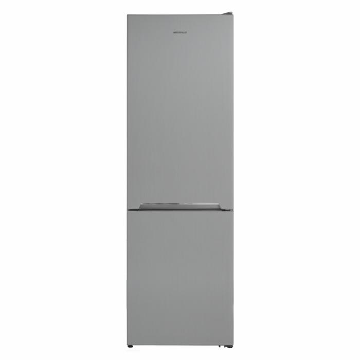 Combina frigorifica Heinner HC-V336XE++, 336 l, Clasa E, Tehnologie less frost, Iluminare LED, Control mecanic, Termostat ajustabil, H 186 cm, Argintiu [0]