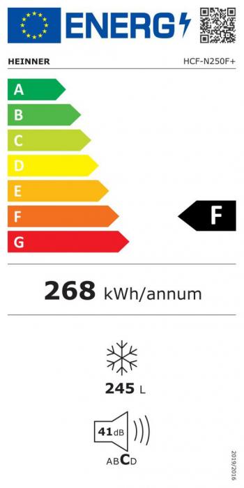 Lada frigorifica Heinner HCF-N250F+, 245 l, Clasa F [2]