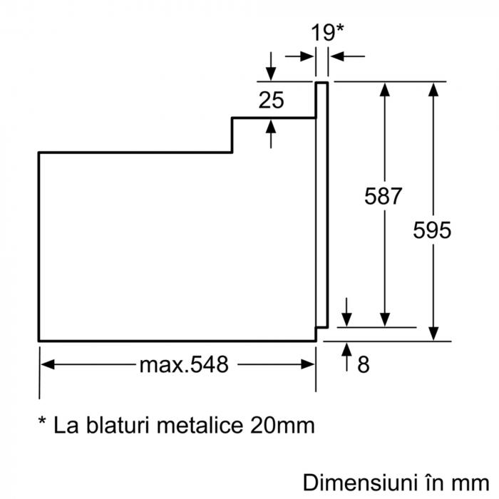 Cuptor incorporabil Bosch HBF153EB0, Electric, Autocuratare EcoClean Direct, 66 l, Clasa A, Negru 6