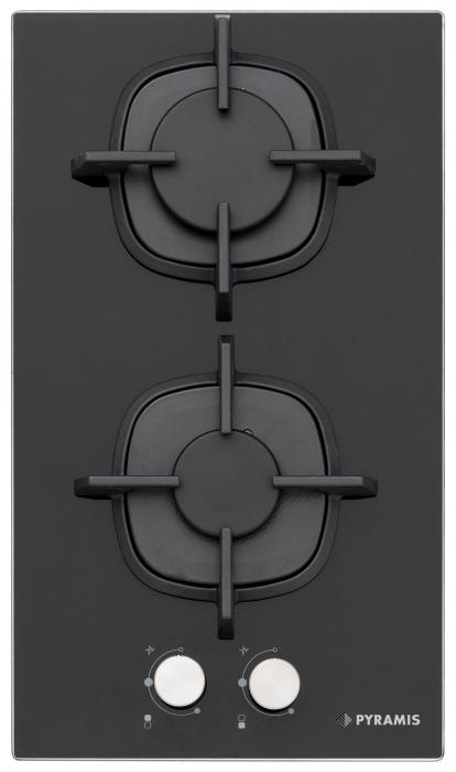 Plita gaz domino 5410B01 Sticla neagra & Fonta [0]